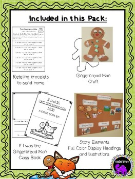 The Gingerbread Man Literacy Activity Pack for Kindergarten and First Grade