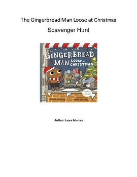 The Gingerbread Man Loose at Christmas - QR Code Scavenger Hunt - Christmas