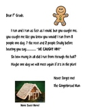 The Gingerbread Man Loose in the School Mail Math Time Letter