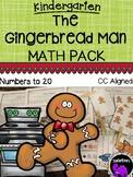 The Gingerbread Man Math Activity Pack for Kindergarten