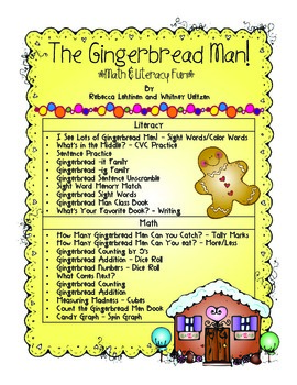 The Gingerbread Man! Common Core Aligned!