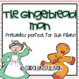 The Gingerbread Man Mini Unit Printables (Perfect for Sub Plans!