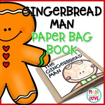 Gingerbread Man Paper Bag Book