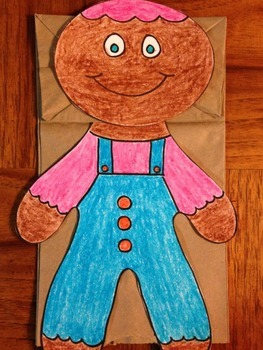 The Gingerbread Man Paper Bag Puppet