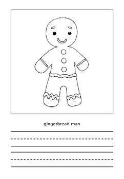 The Gingerbread Man Picture Dictionary Book