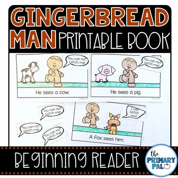 It is a graphic of Gingerbread Man Printable Book for vintage