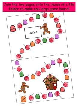 Gingerbread Man Board Game {Editable!}