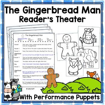 The Gingerbread Man - Reader's Theater & Puppet Fun!