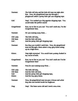 The Gingerbread Man Reader's Theatre Script