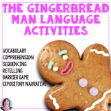 Gingerbread Man Speech Therapy | Sequence | Retell | Descr