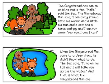 The Gingerbread Man (Retelling Cards and Pocket Chart Activities)