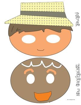 The Gingerbread Man Retelling Props (Masks)