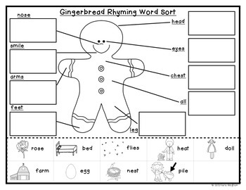 Rhyming Activity {The Gingerbread Man Rhyme Book}