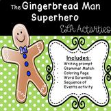 The Gingerbread Man SUPERHERO - ELA Task Cards