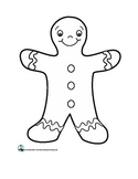 The Gingerbread Man Cut-Out Book and Template