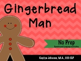 The Gingerbread Man: Speech and Language Activities