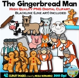 The Gingerbread Man Story Clip Art for Personal and Commer