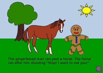 The Gingerbread Man Story on Power Point