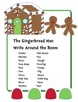 The Gingerbread Man Write Around the Room