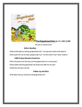 The Gingerbread Man for guided reading