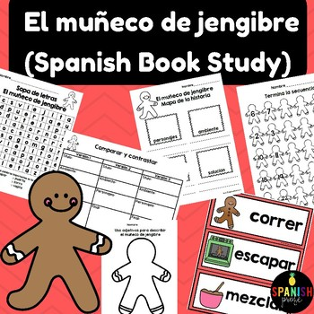 The Gingerbread Man in Spanish (muñeco de jengibre actividades)