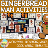 The Gingerbread Man Masks, Word wall, Writing and Sequencing activities