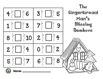 The Gingerbread Man's Missing Numbers