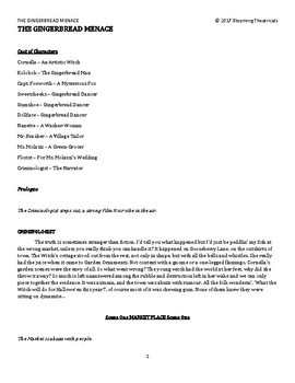 The Gingerbread Menace - a Short Play for Students!