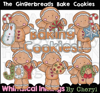 The Gingerbreads Bake Cookies Clipart Collection