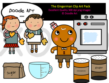 The Gingerman Clipart Pack