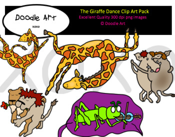 The Giraffe Dance Clipart Pack