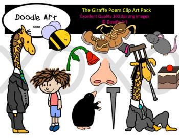 The Giraffe Poem Clipart Pack