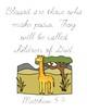 The Giraffe That Walked to Paris Bible Verse Printable (Matthew 5:9)