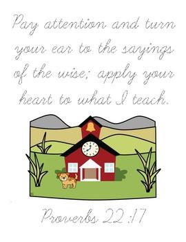 Three Names Bible Verse Printable (Proverbs 22:17)