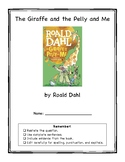 The Giraffe and the Pelly and Me Book Club Packet