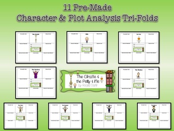 The Giraffe and the Pelly and Me Roald Dahl Character & Plot Analysis Tri-Folds