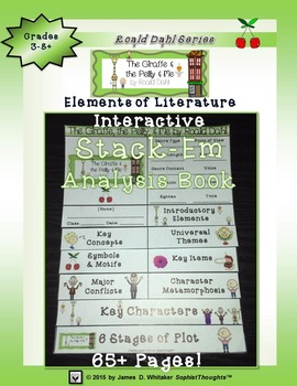 The Giraffe and the Pelly and Me Roald Dahl Interactive Stack-Em Analysis Book
