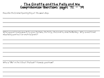 The Giraffe and the Pelly and Me by Roald Dahl:  A Complete Novel Study