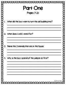 The Giraffe, the Pelly, and Me:  Reading Response Activities