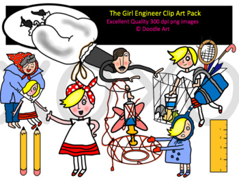 The Girl Engineer Clipart Pack