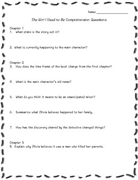 The Girl I Used to Be (April Henry) Comprehension Questions