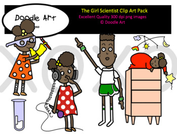 The Girl Scientist Clipart Pack