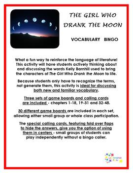 The Girl Who Drank the Moon Vocabulary Bingo
