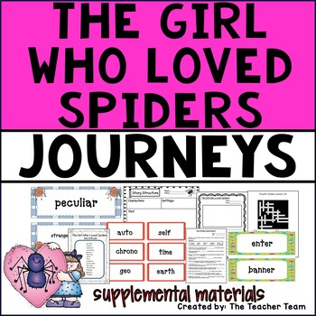 The Girl Who Loved Spiders Journeys 4th Grade Unit 6 Lesson 26 Activities