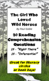 """The Girl Who Loved Wild Horses"" by Paul Goble - Question Bank -  Assessment"