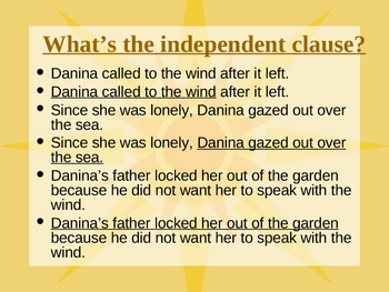 """""""The Girl Who Loved the Wind"""" OCR - Complex Sentences"""