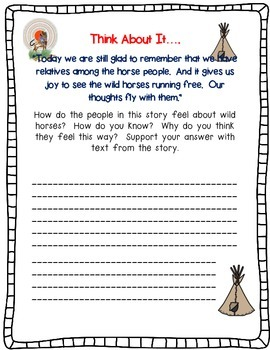 The Girl Who Loved Wild Horses by Paul Goble A Complete Book Response Journal