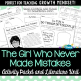 The Girl Who Never Made Mistakes Activity Packet