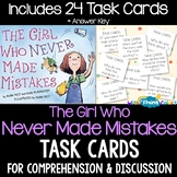 The Girl Who Never Made Mistakes Activity (TASK CARDS)