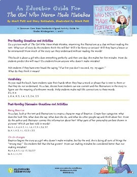 The Girl Who Never Made Mistakes - Common Core Aligned Activity Guide